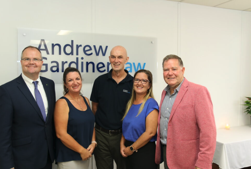 Image of Andrew Gardiner Law Nambour office launch