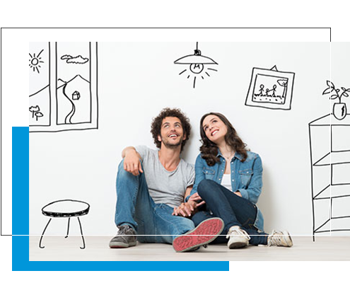 Image of couple contemplating a home loan